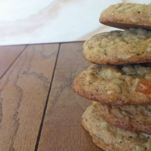 Oatmeal, Apricot, Walnut Cookies, with Chocolate Chips