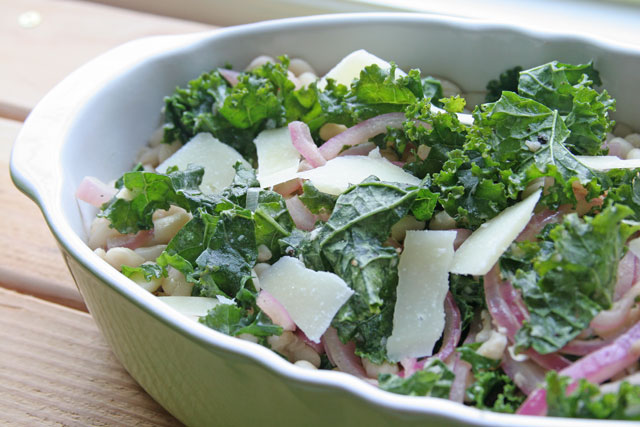 Warm Kale and White Bean Salad