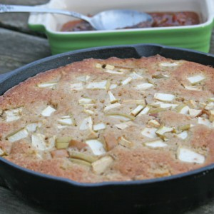 Buttermilk Apple Skillet Cake with Apple Raisin Compote, Tips & Tricks Included!