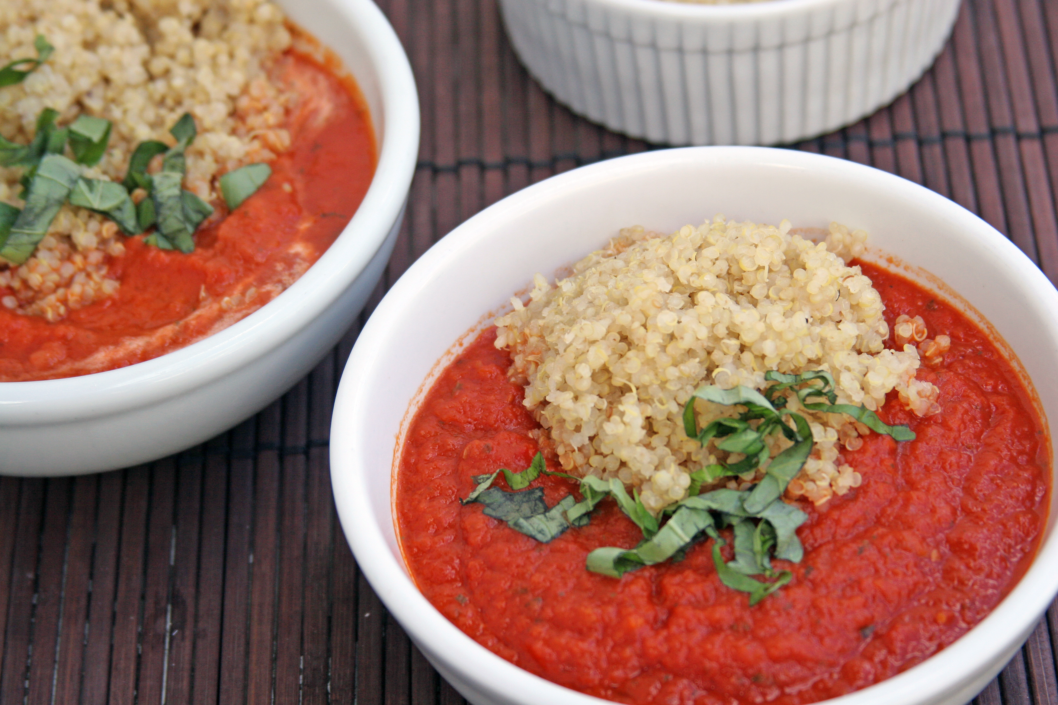 Tomato Soup with Chipotle Peppers and Quinoa