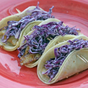 Simple Fish Tacos with Kikkoman Soy Sauce and Yogurt Slaw