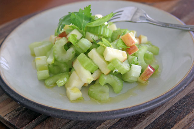 Apple Celery Salad, Food Bloggers Against Hunger Challenge
