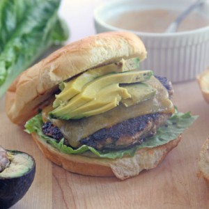 Turkey Burger with Chipotle Sauce, CA Avocado, and Fatworks Beef Tallow