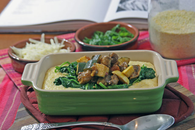 Creamy Polenta with Mushrooms, Squash, and Spinach - not ...
