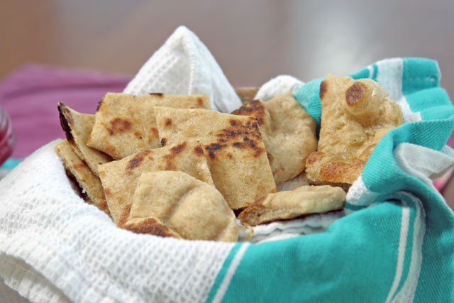 Flatbread Bread Recipe AND a Sabra Hummus Package GIVEAWAY!