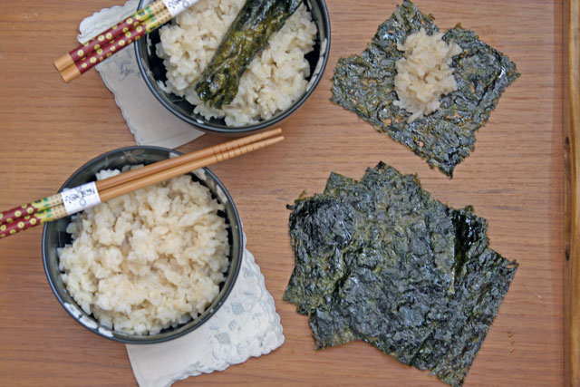 Perfect Jasmine Brown Rice and Nori Wraps