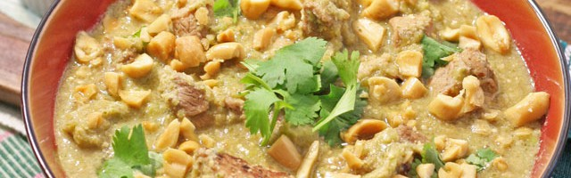 Green Mole Sauce with Peanuts and Pork, National Peanut Board Sponsored Post