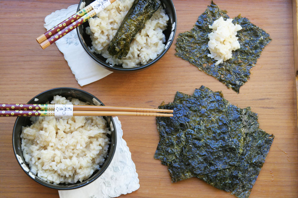 brown rice and nori