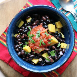 black bean mango bowl