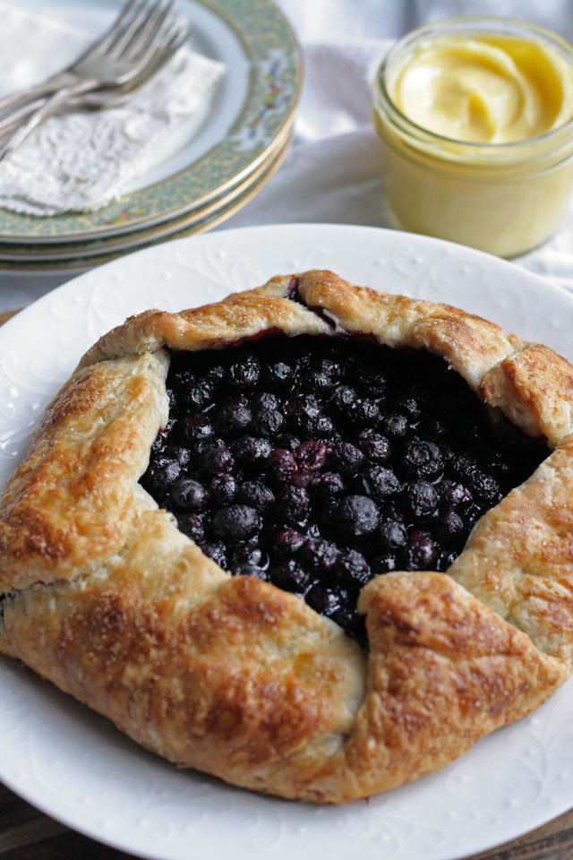 Blueberry Galette with Meyer Lemon Curd