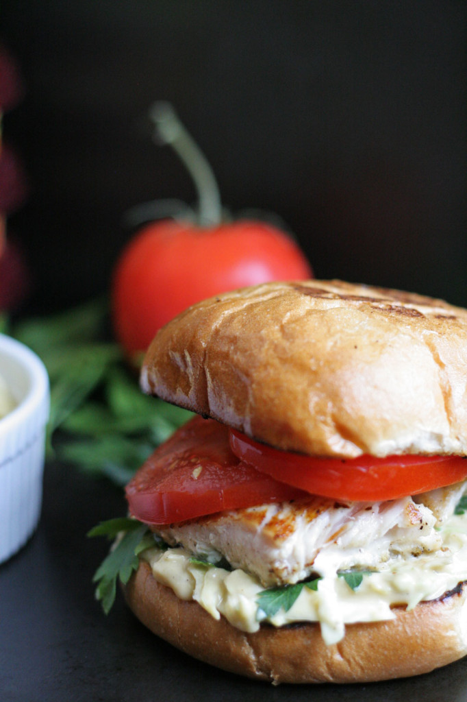 Fish Sandwich with Sabra Hummus Slaw