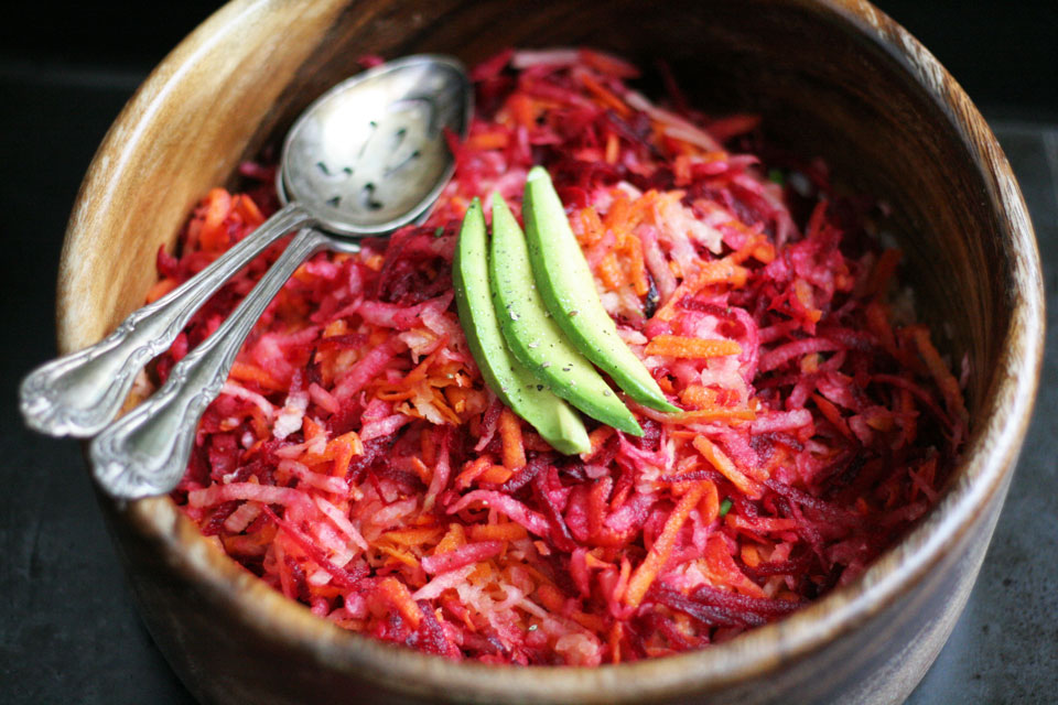 Shredded Root Salad, Yucatan Style