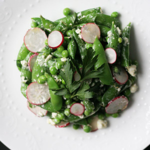 Pea and Radish Salad with Goat Cheese