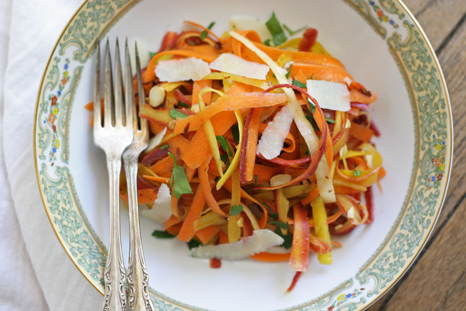 Rainbow Carrot Ribbon Saladnot just baked