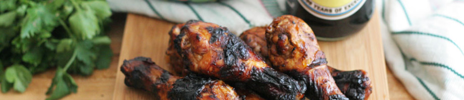 Soy and Pasilla Pepper Grilled Drumsticks