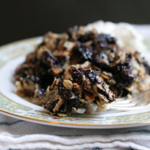 Blueberry Hazelnut Crisp with Goat Cheese Whipped Cream