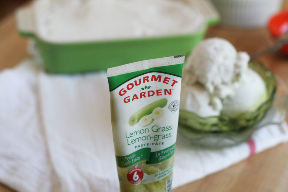 Lemon Grass Coconut Milk Sorbet