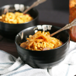 Kimchi and Sausage Mac and Cheese