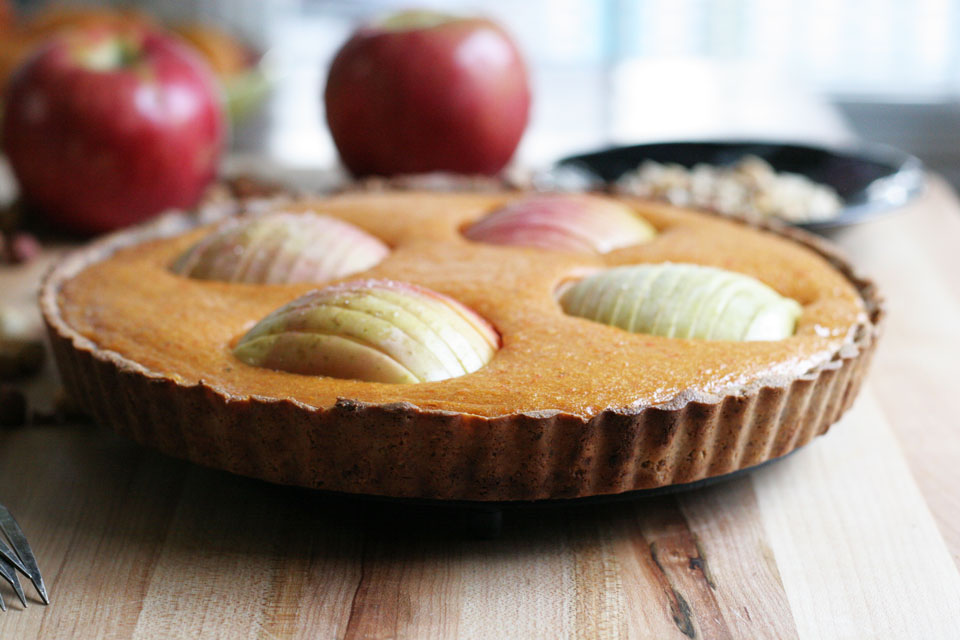 Persimmon Apple Tart