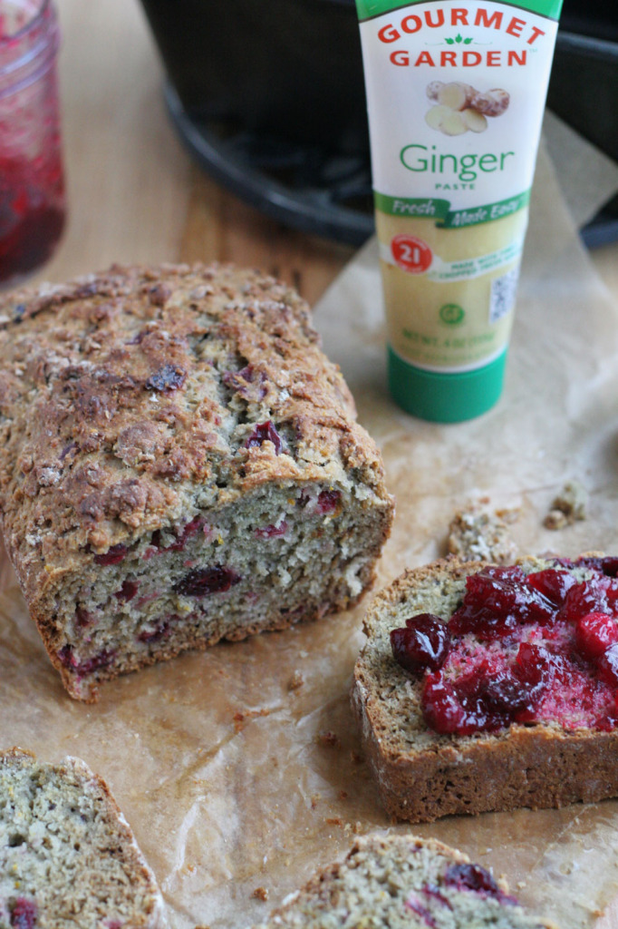 Ginger Cranberry Sauce Bread