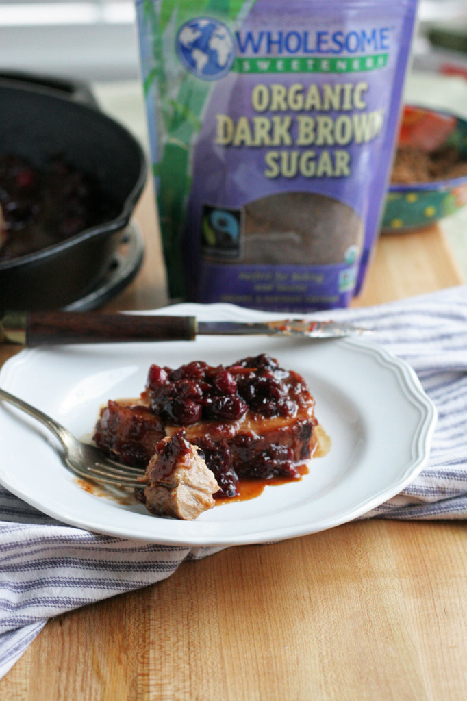 Brown Sugar Cranberry Glazed Pork Loin