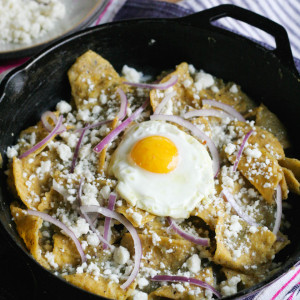 Easy Chilaquiles Verdes