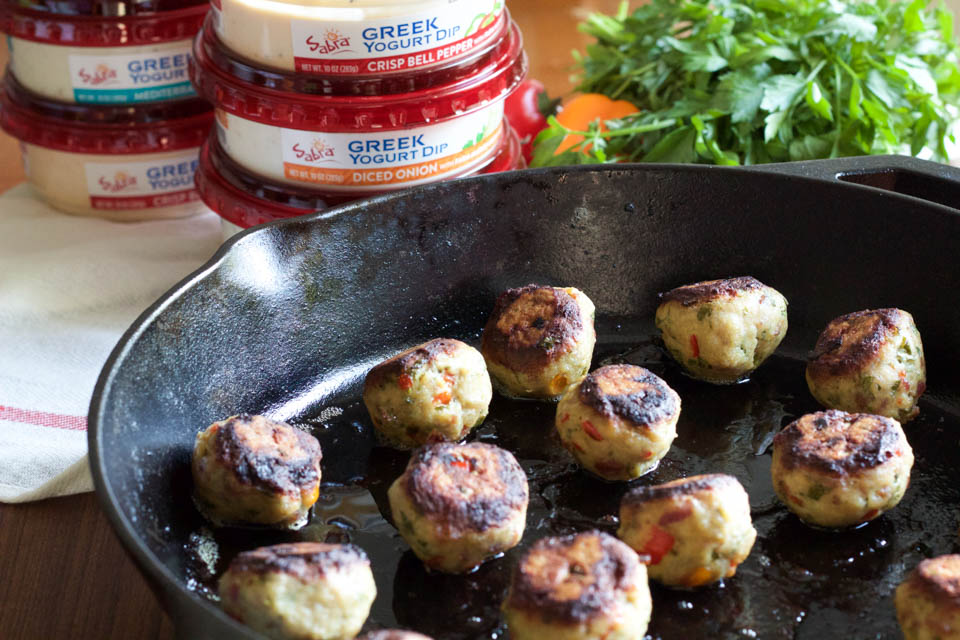 Chicken Meatballs with Greek Yogurt Dip