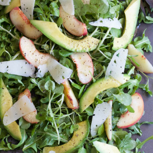 Peach Avocado Manchego Salad