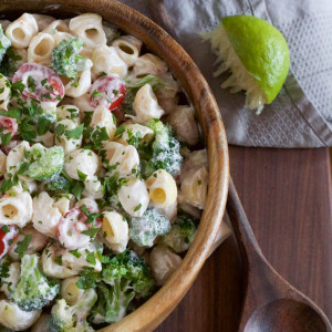 Macaroni Salad with Yogurt Lime Dressing