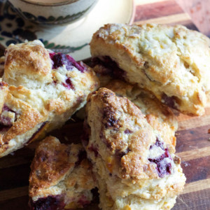 Blackberry Peach Scones