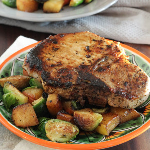 Grilled Pork Chops with a Sweet Pan Roasted Hash from Express Lane Cooking