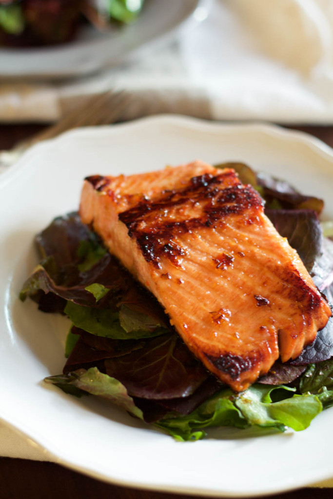 Spicy Pepper Jelly Glazed Salmon