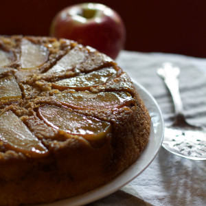 Brown Sugar Upside Down Apple Cake