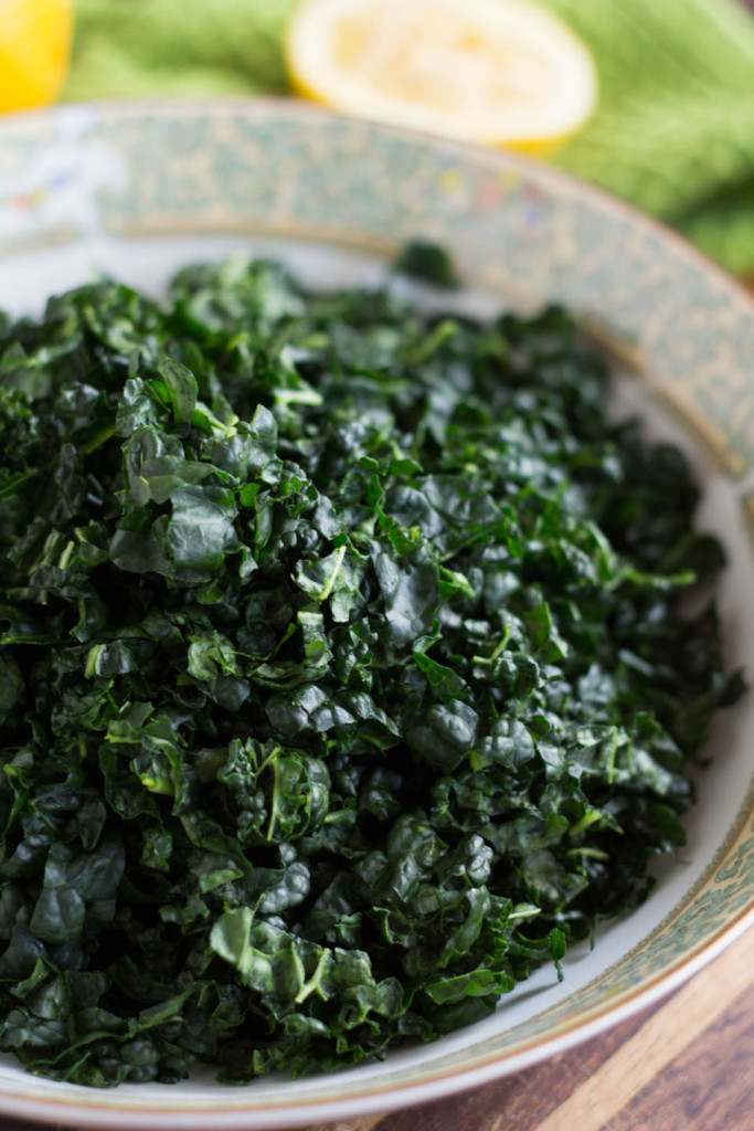 Kale Salad with Herb Lemon Vinaigrette