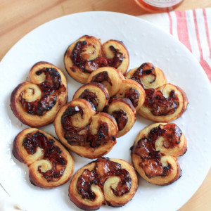 Pepper Jelly Prosciutto Brie Palmiers