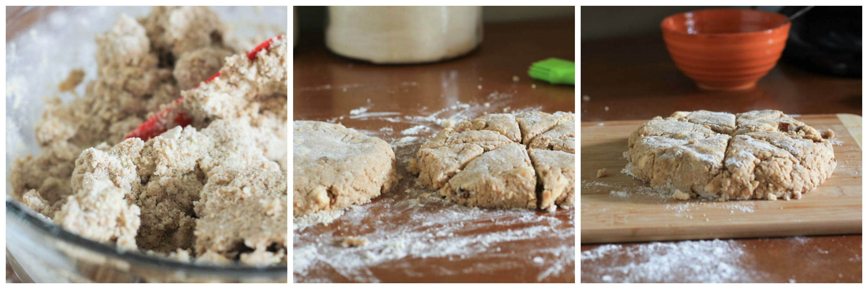Almond Meal Orange Date Scones - not just baked