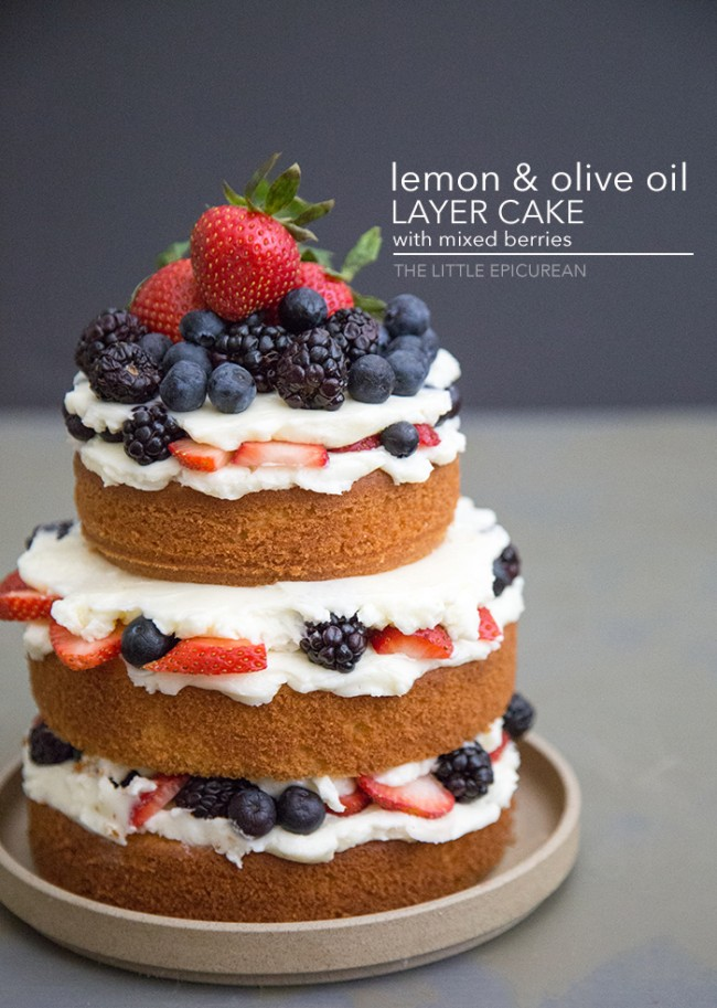Lemon Olive Oil Cake from The Little Epicurean!