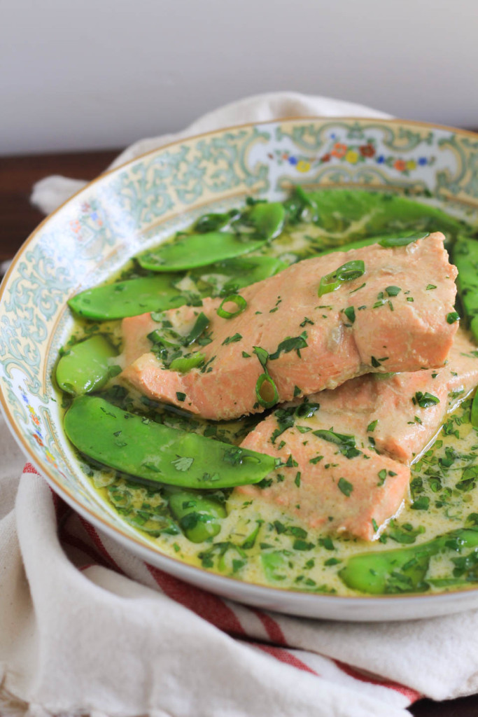 Green Curry Braised Salmon