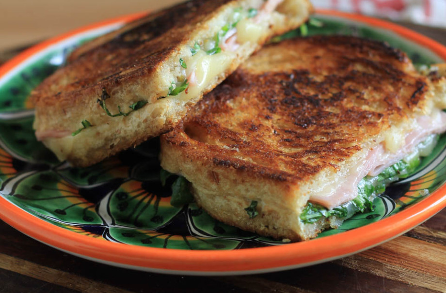 Pepper Jack Ham and Fig Grilled Cheese