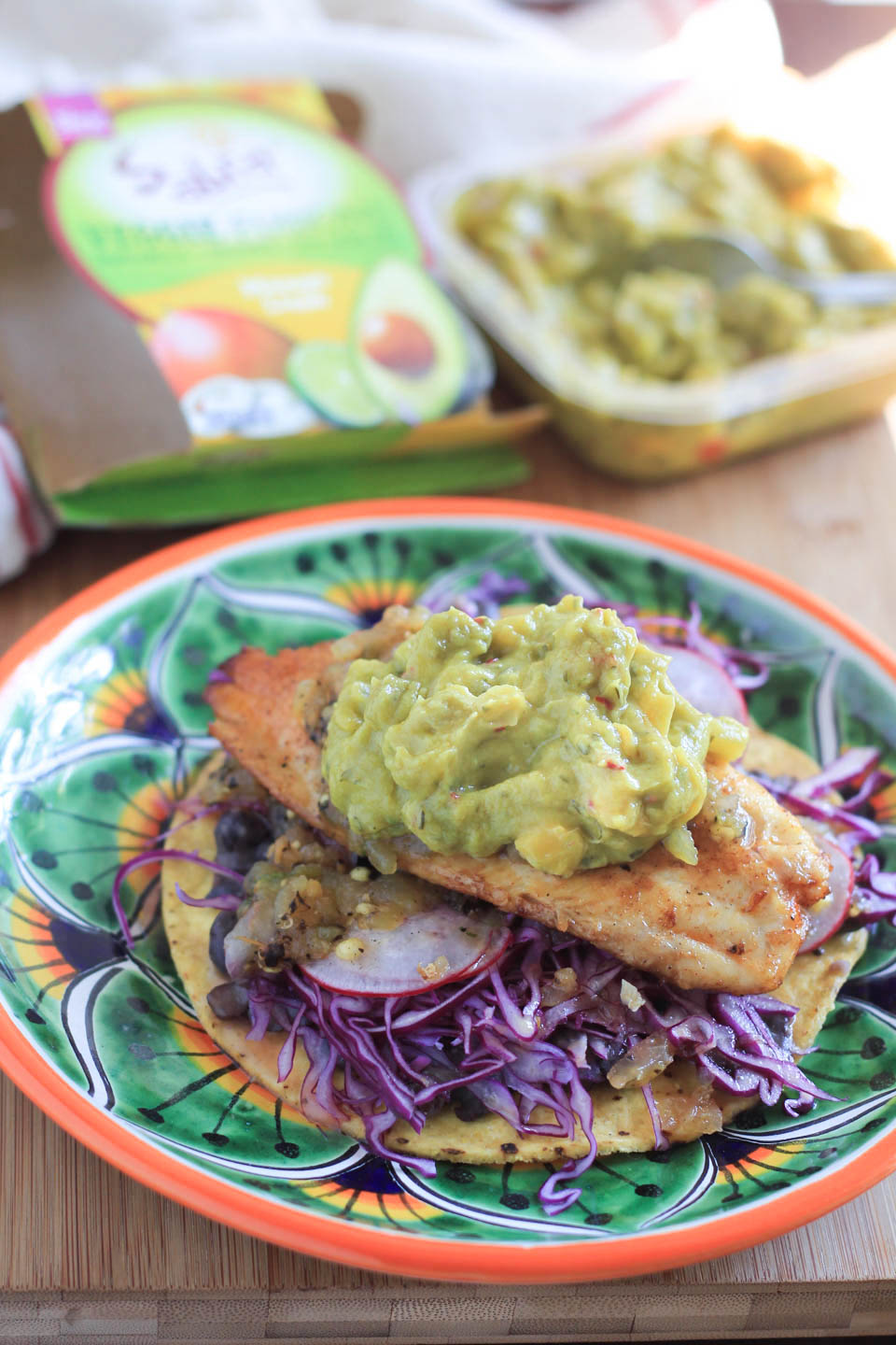 Grilled Fish Tostadas Recipe With Veggie Fusions Guacamole