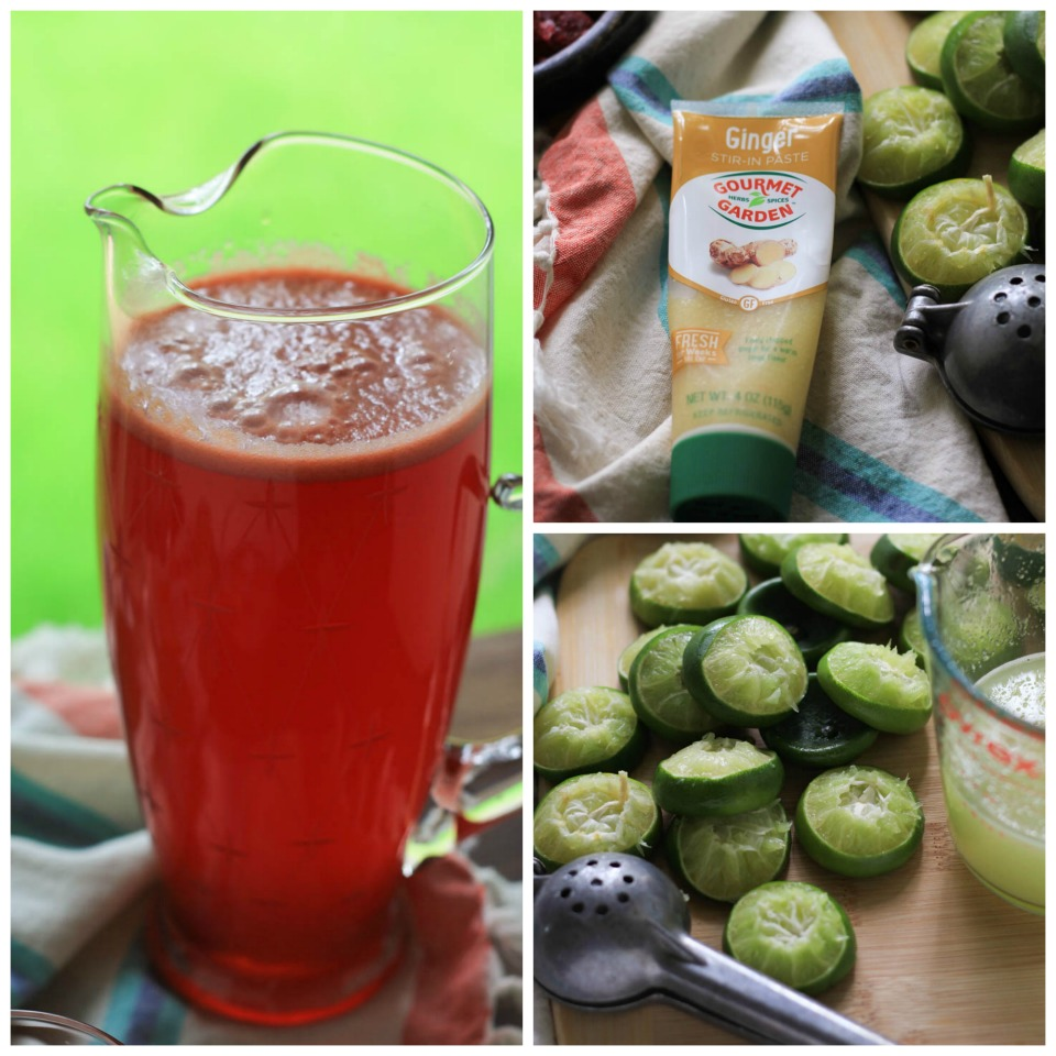 Sparkling Raspberry Ginger Limeade Recipe