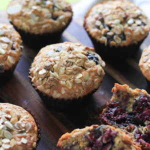 Blackberry Muesli Muffins