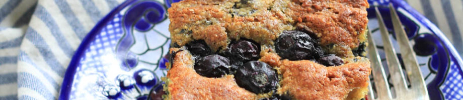 Blueberry Swirl Cornmeal Cake