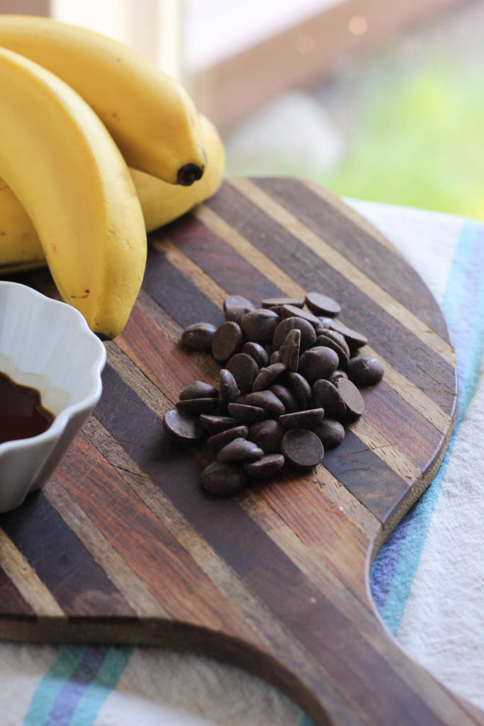 Whole Frozen Banana Dark Chocolate Calories