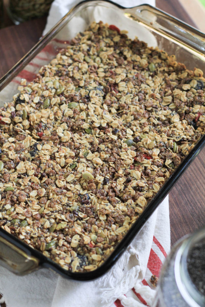 No Bake Superfood Chewy Granola Bars Snack Recipe