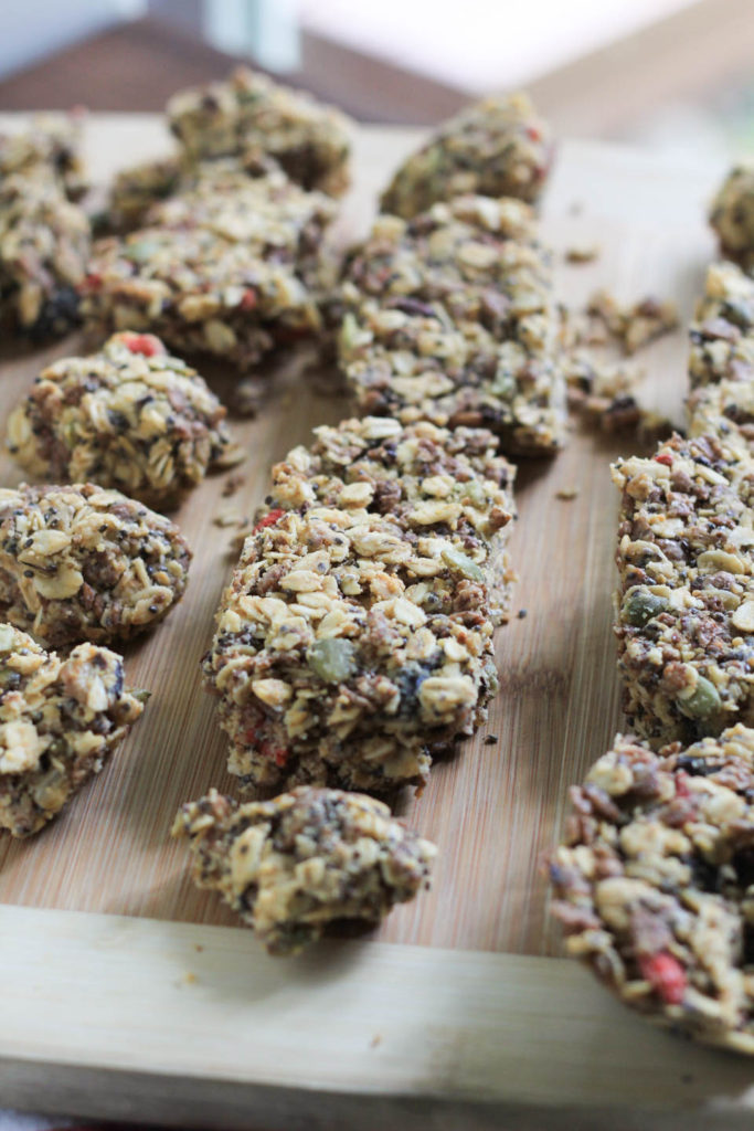 No Bake Superfood Chewy Granola Bars