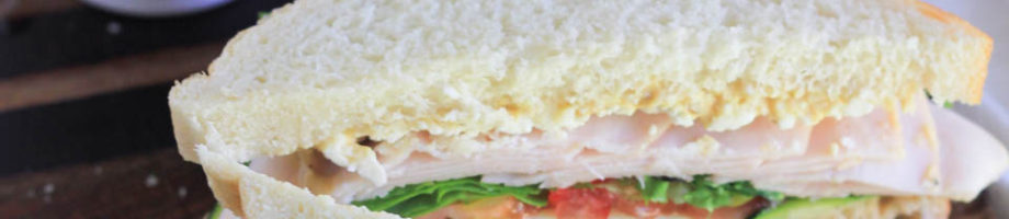 Sea Salt Hummus Spread Turkey Vegetable Sandwich