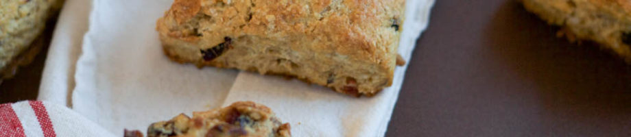 Dried Fruit Hazelnut Scones